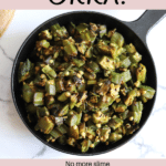 THE BEST Okra recipe with no slime cooked in an air fryer and pan fried.