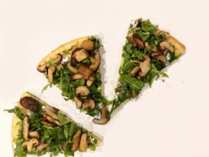 The Curry Mommy shiitake mushroom pizza