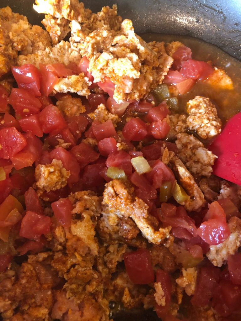 diced tomato and chili