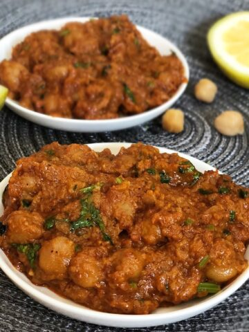 chana masala cream free easy recipe with chick peas and badshah spices