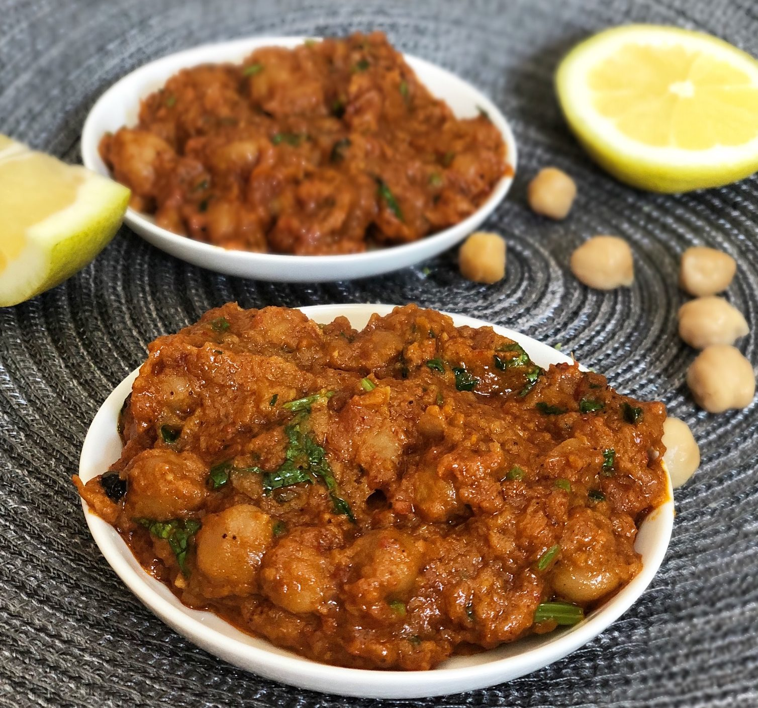 chana masala cream free easy recipe with chick peas and badshah spices