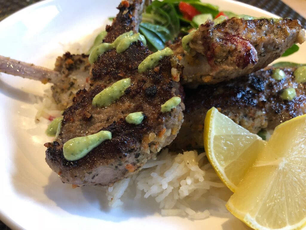 lamb chops with easy vegan chicken wing dipping sauce jalapeno cilantro sauce