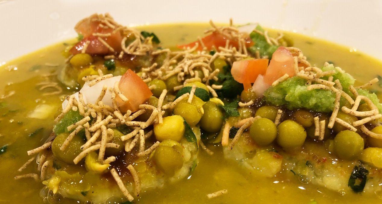ragda pattice recipe pea soup curry recipe indian pea soup with dumplings