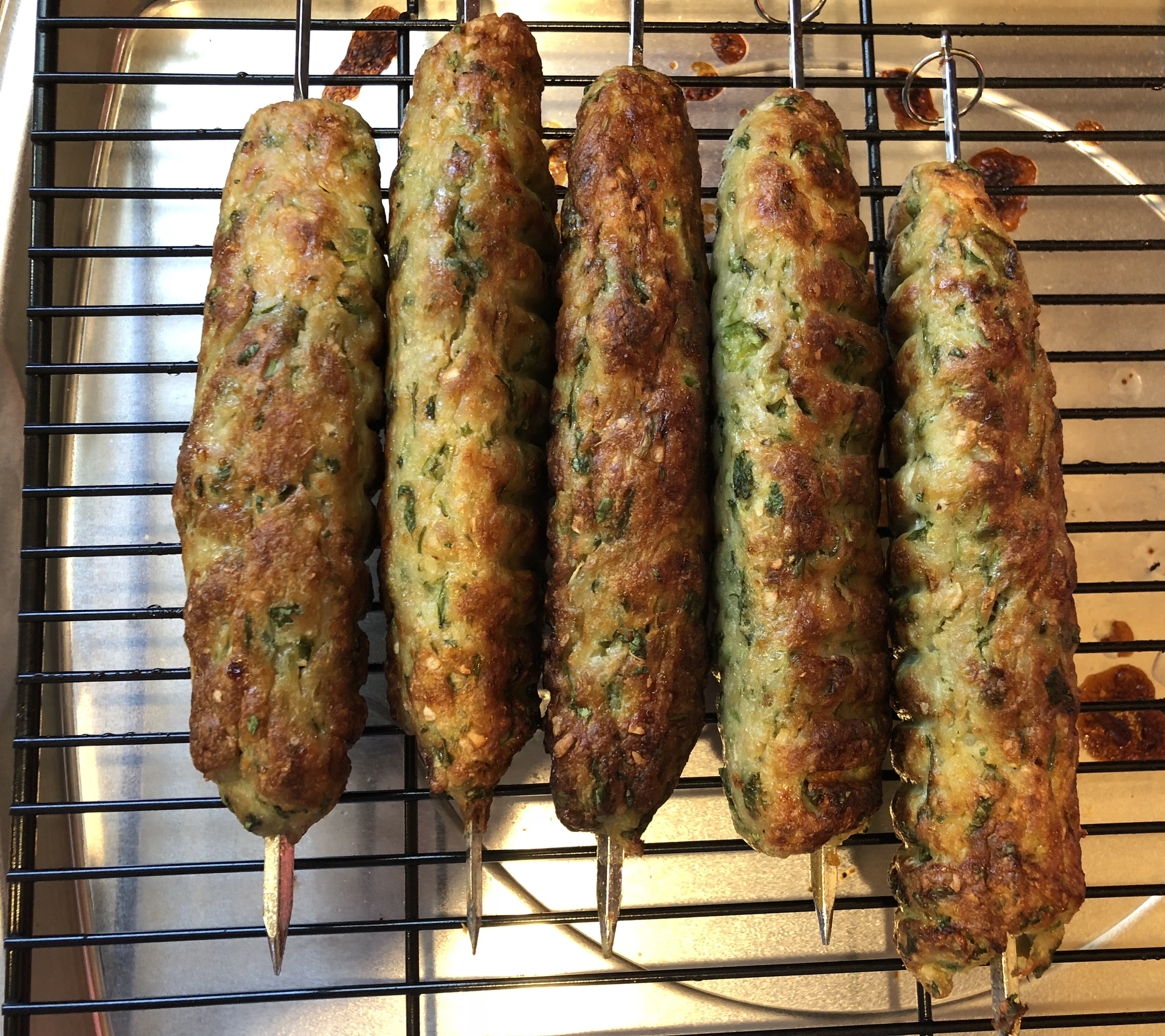chicken kebabs cooked in the oven