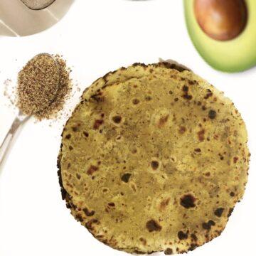 avocado roti healthy fiber rich roti with flax seeds