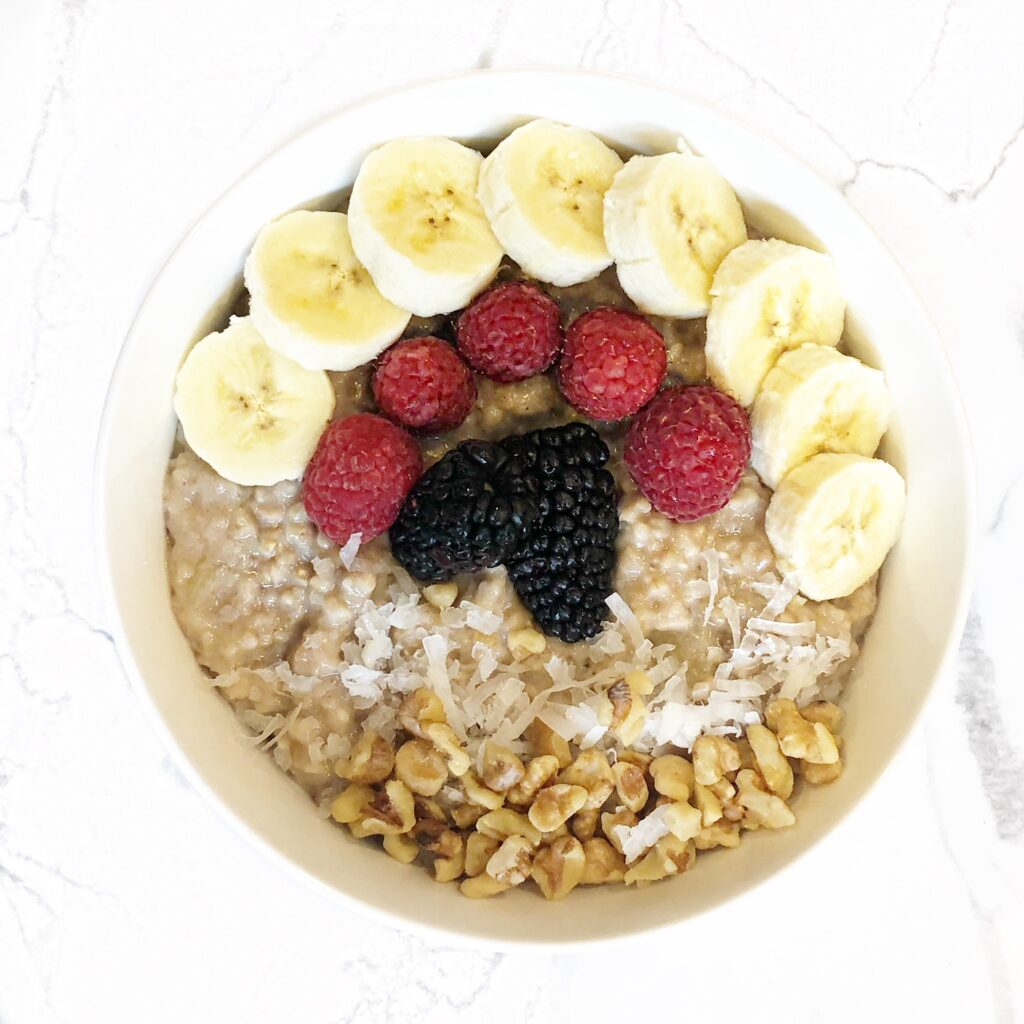 Oatmeal made in an instant pot