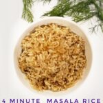 masala rice indian food kid friendly indian recipe easy instant pot 4 minute masala rice chutney raita side dish indian basmati rice rotisserie chicken