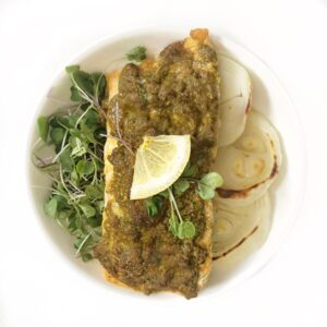 Baked masala salmon recipe in oven with masala
