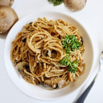 mushroom pasta with creamy sauce easy one pot steak side popular noodle dish