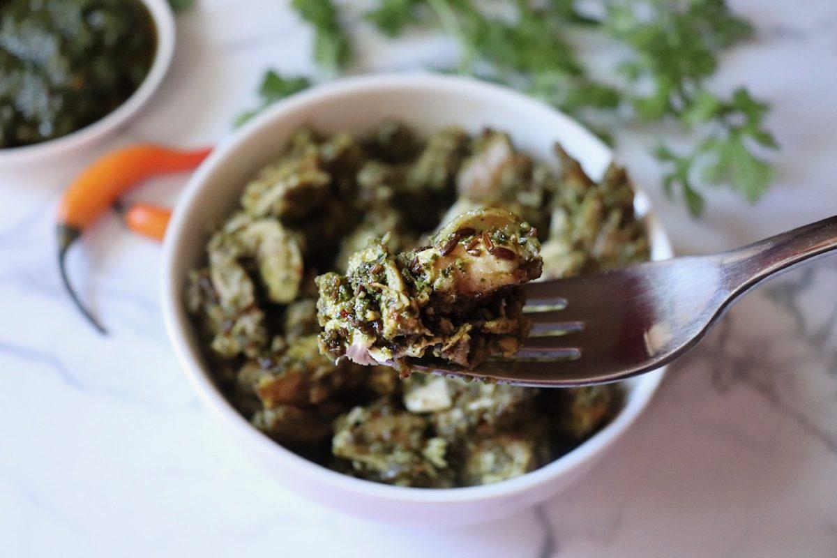 indian flavored rotisserie chicken recipe hariyali jeera chicken 10 minute family dinner