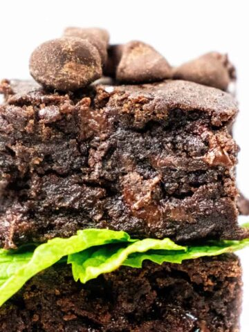 vegan gluten free easy black bean brownies