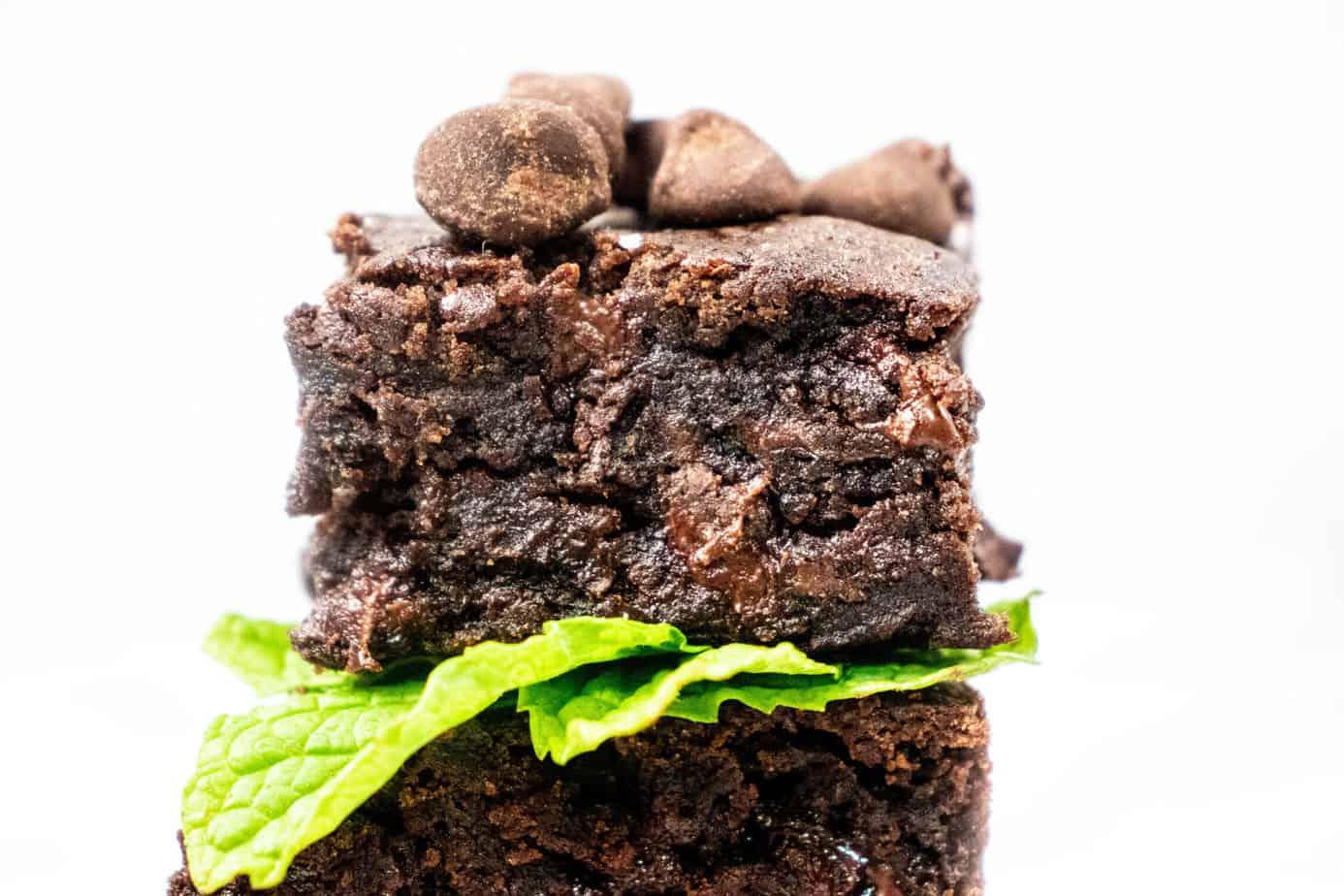 vegan gluten free easy black bean brownies