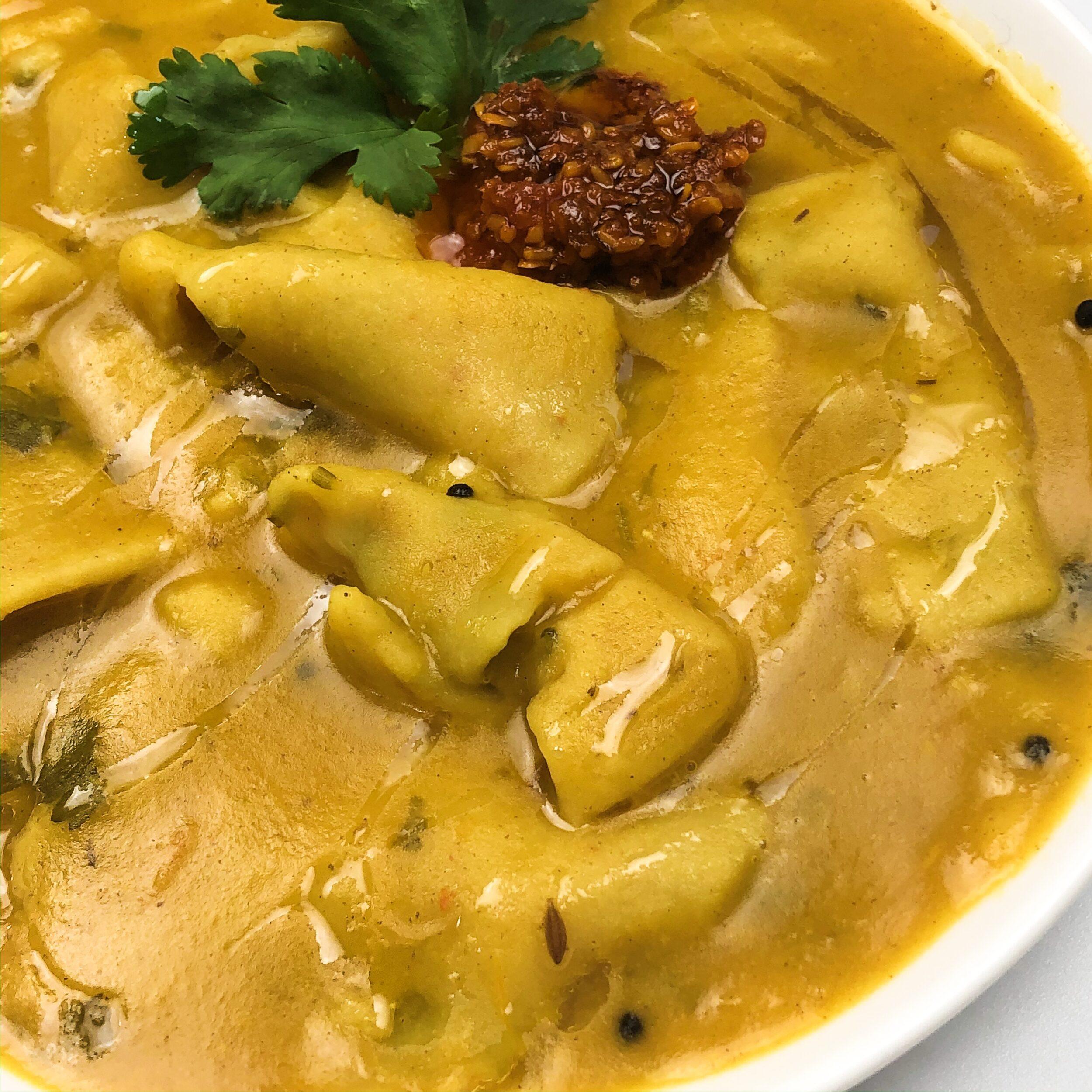 dal dhokri instant pot sambar lentil soup wheat dumplings