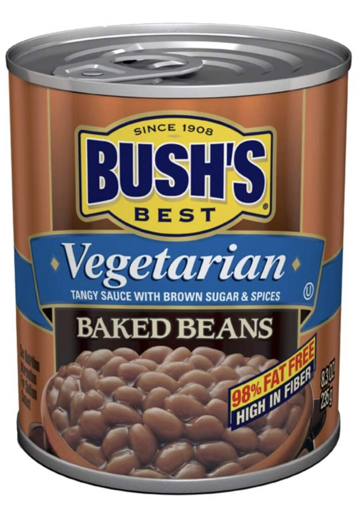bushs vegetarian canned beans with a recipe in the post