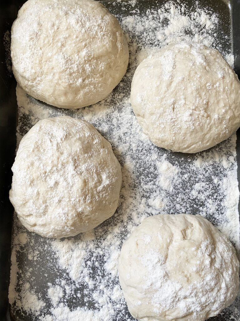 4 pizza dough balls