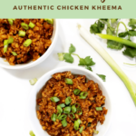A ground Chicken Kheema recipe created by recipe developer The Curry Mommy