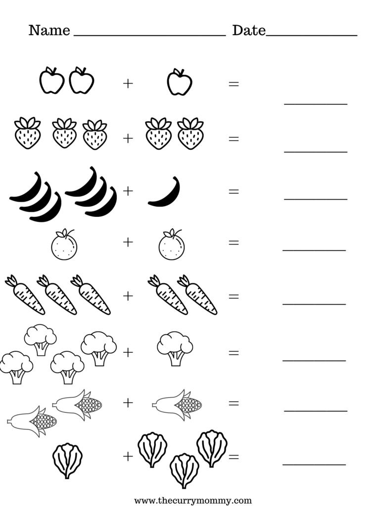 Beginner math for preschool aged kids. No fuss printable worksheets for kids