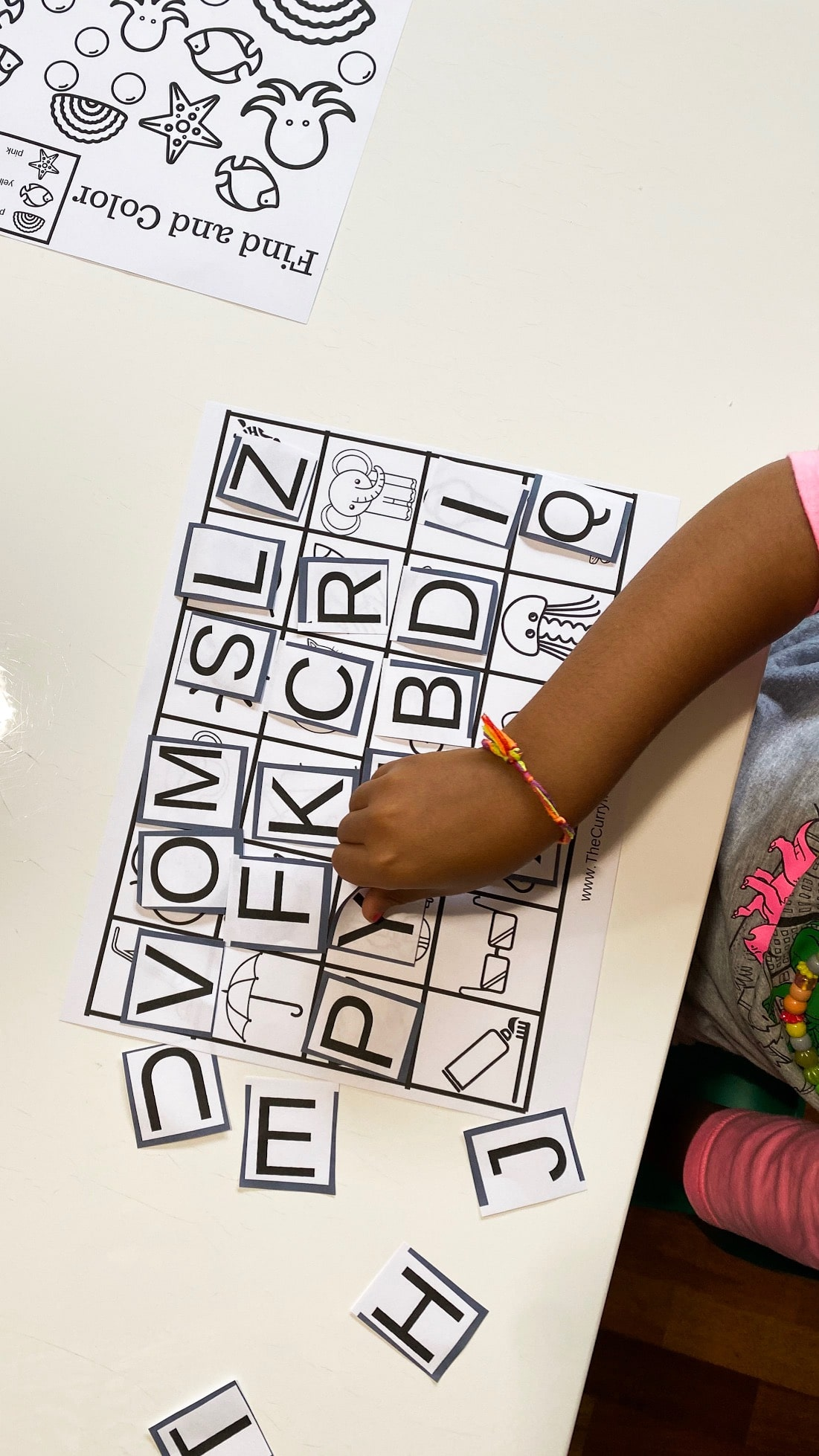 ABC recognition game for early childhood education
