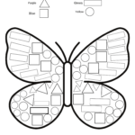 A butterfly with multiple shapes that can be colored differently