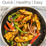 healthy indian chicken spices and masala with onions and bell peppers