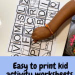 Easy to print activities for kids.