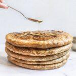 Puran Poli stuffed with sweet lentil mixture gujarati thali recipe