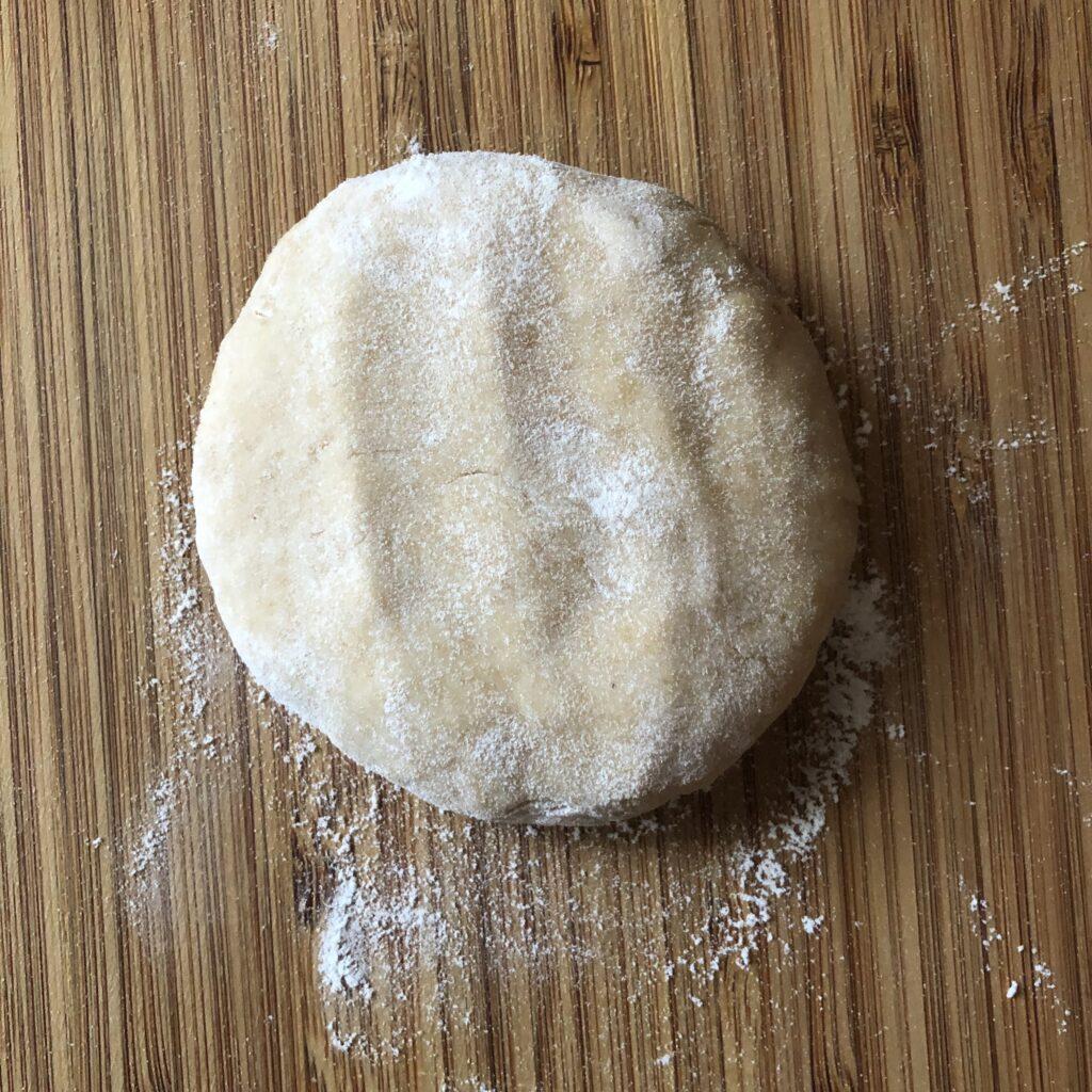 round dough of whole wheat flour