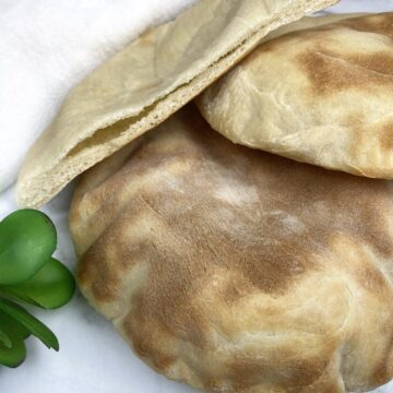 greek whole wheat oven baked pita pocket with essential ingredients tasty easy homemade gyro falafel hummus recipe