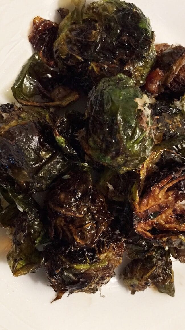 The Curry Mommy brussels sprouts oven roasted parmesan cheese keto indian recipe clean eating air fried balsamic glazed brussels sprouts