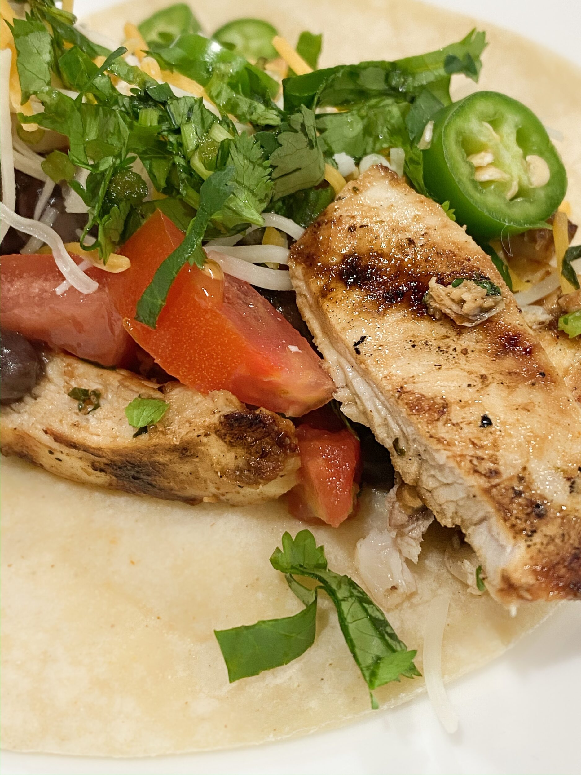 homemade juicy chicken taco grilled chicken breast