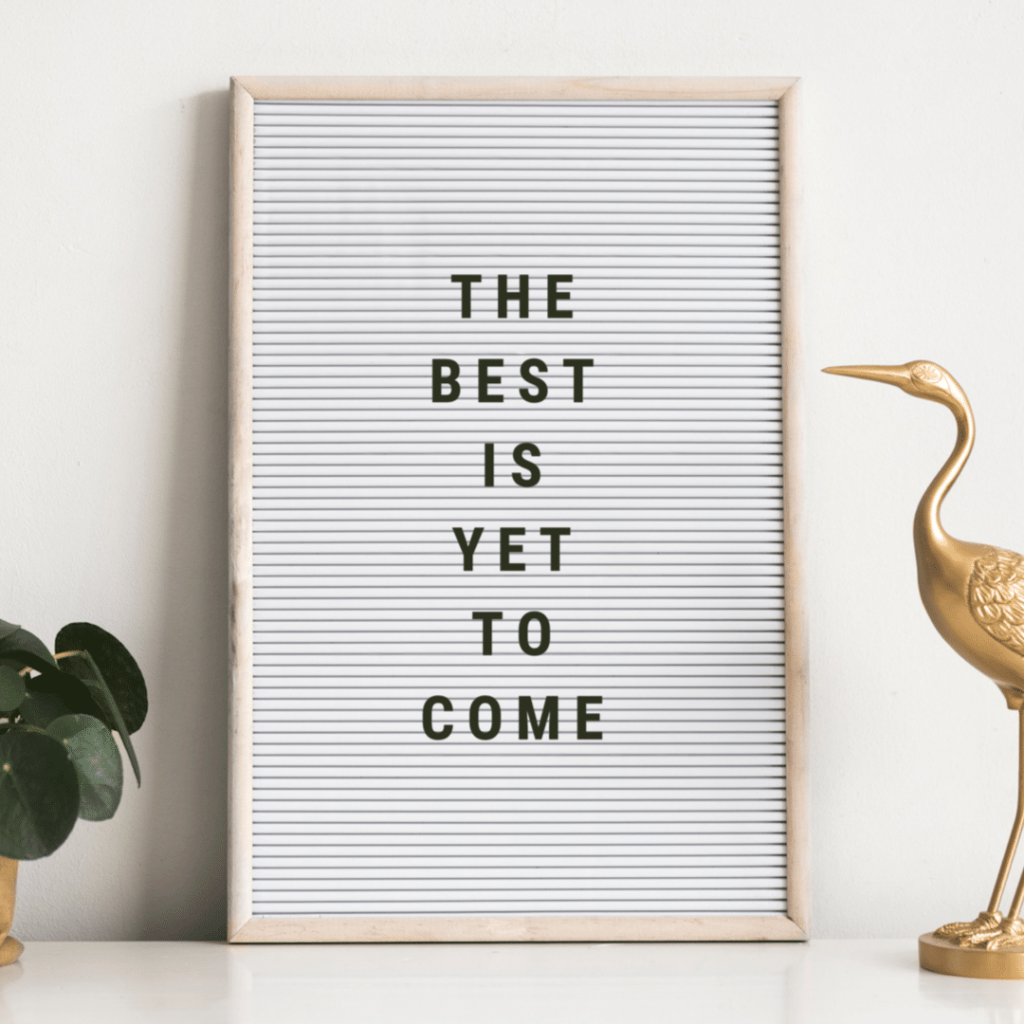 "The Curry Mommy Newsletter Logo saying ""the best is yet to come"""