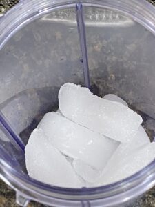 ice in a cup for shaken espresso