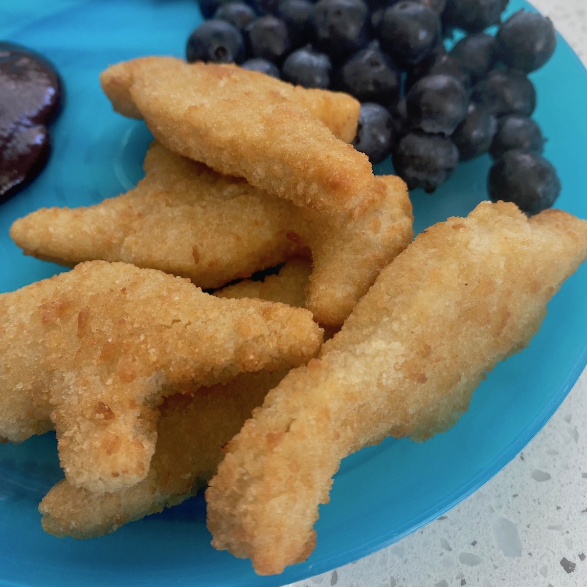air fried chicken nuggets dino shape from costco