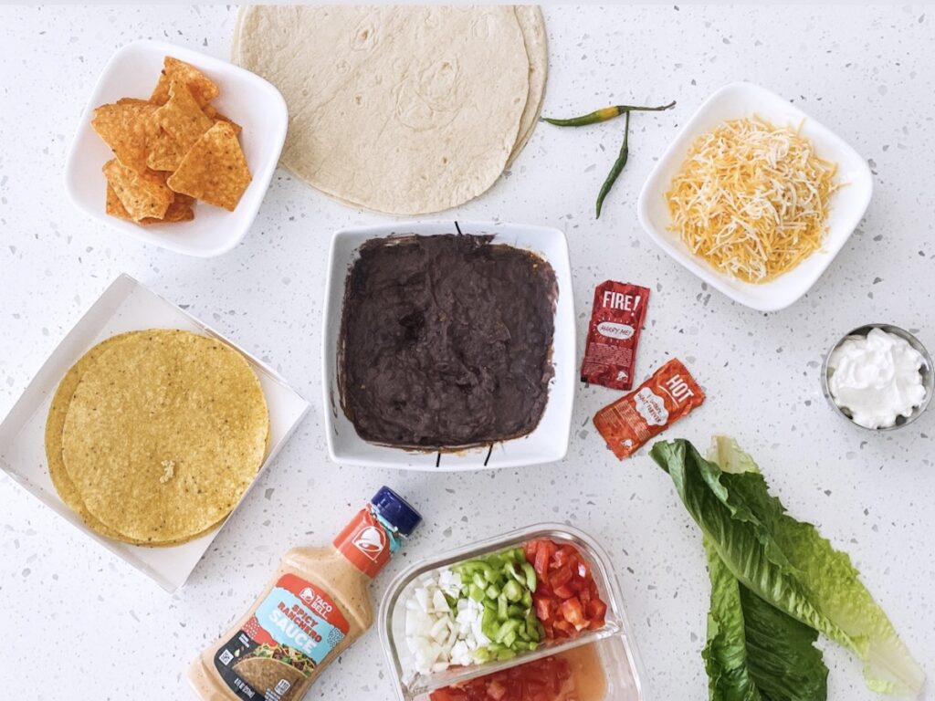 ingredients for crunchwrap supreme