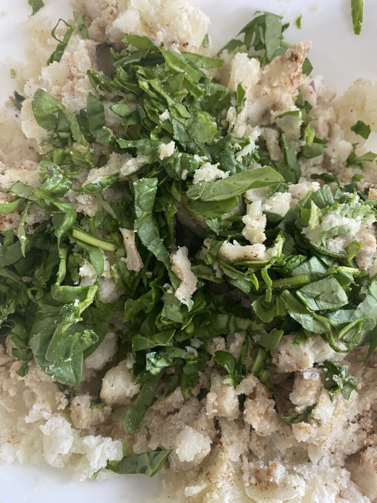 potato mash with spices and herbs