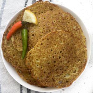 savory pancakes with rice flour