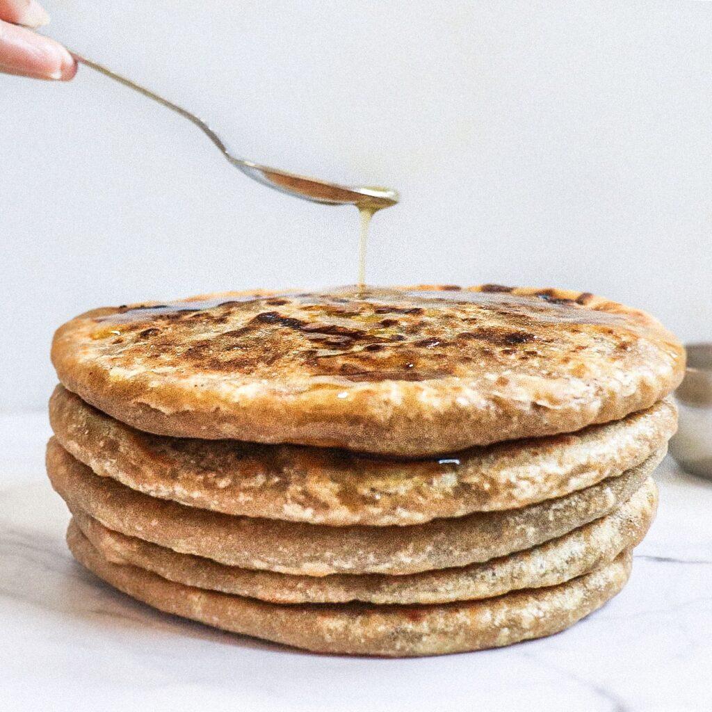 puran poli sweet stuffing inside whole wheat flour